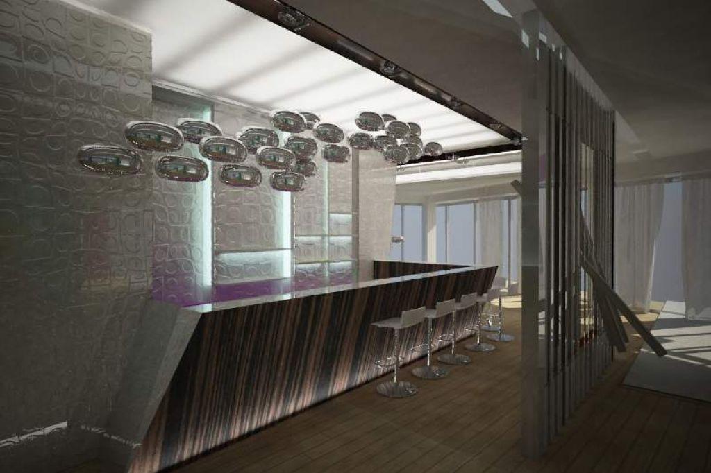 Warianty projektu restauracji i baru w Hotelu Lenart
