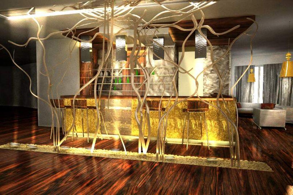Projekt wnętrz restauracji w Hotelu Lenart w Wieliczce