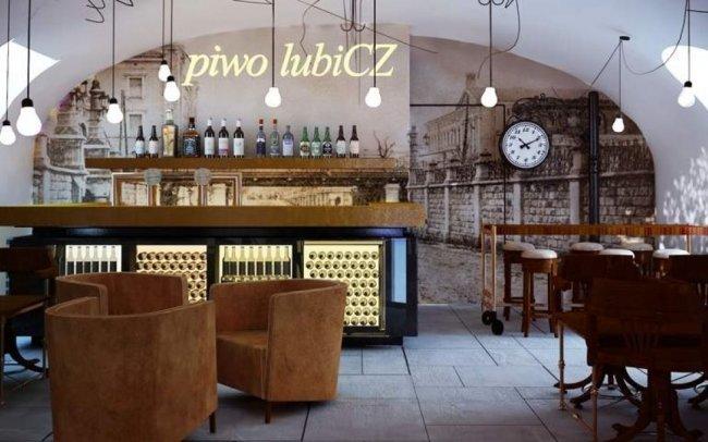 Wnętrza restauracji Browarnej Browar Lubicz w Krakowie