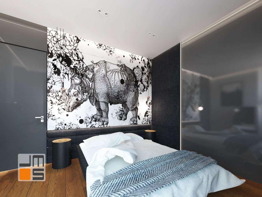 Tapicerowany zagłówek jako pomysł na ścianę za łóżkiem