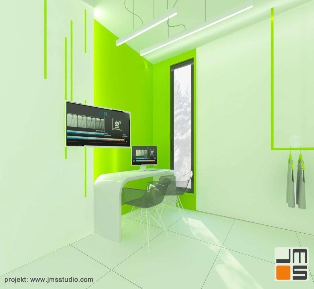 pomieszczenie rentgenu designerskie i nietuzinkowe w klinice dentystycznej