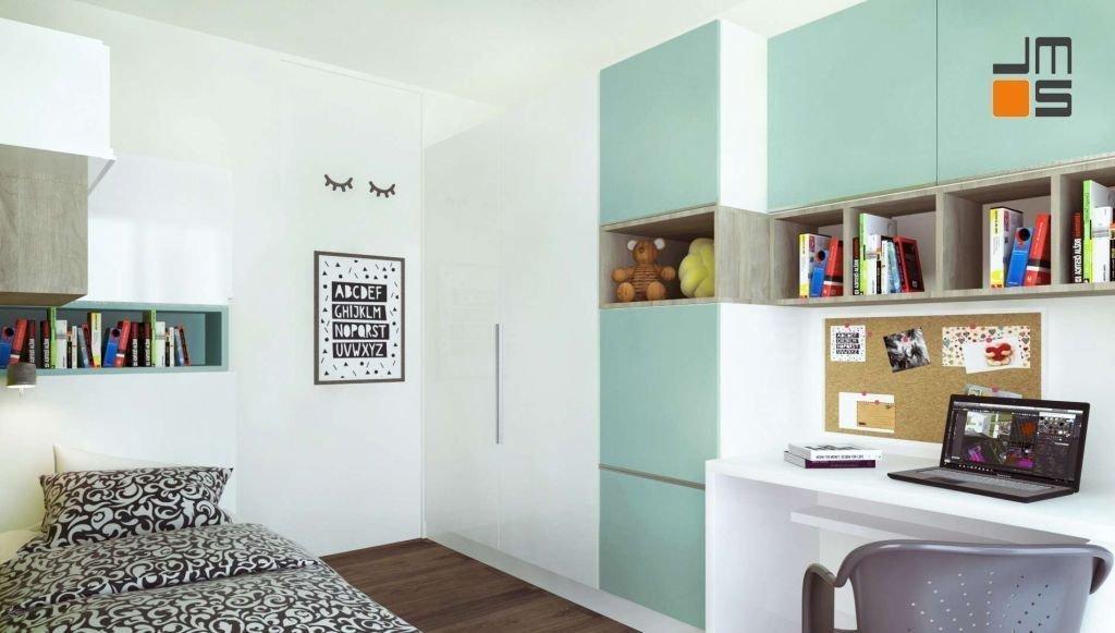 Pojemne meble z kolorowymi frontami sprawdzą się w każdej sypialni dziecka. Podstawowe wyposażenie pokoju dziecinnego stanowi szafa, biurko do nauki oraz wygodne krzesło obrotowe i ciekawe lampy
