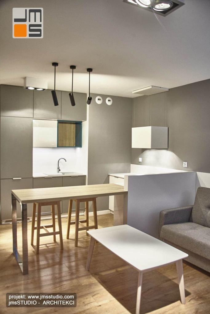 kolorystyka całości mieszkania jest spója i dzięki temu widać konsekwencje w projekowaniu wnętrz tego mieszkania