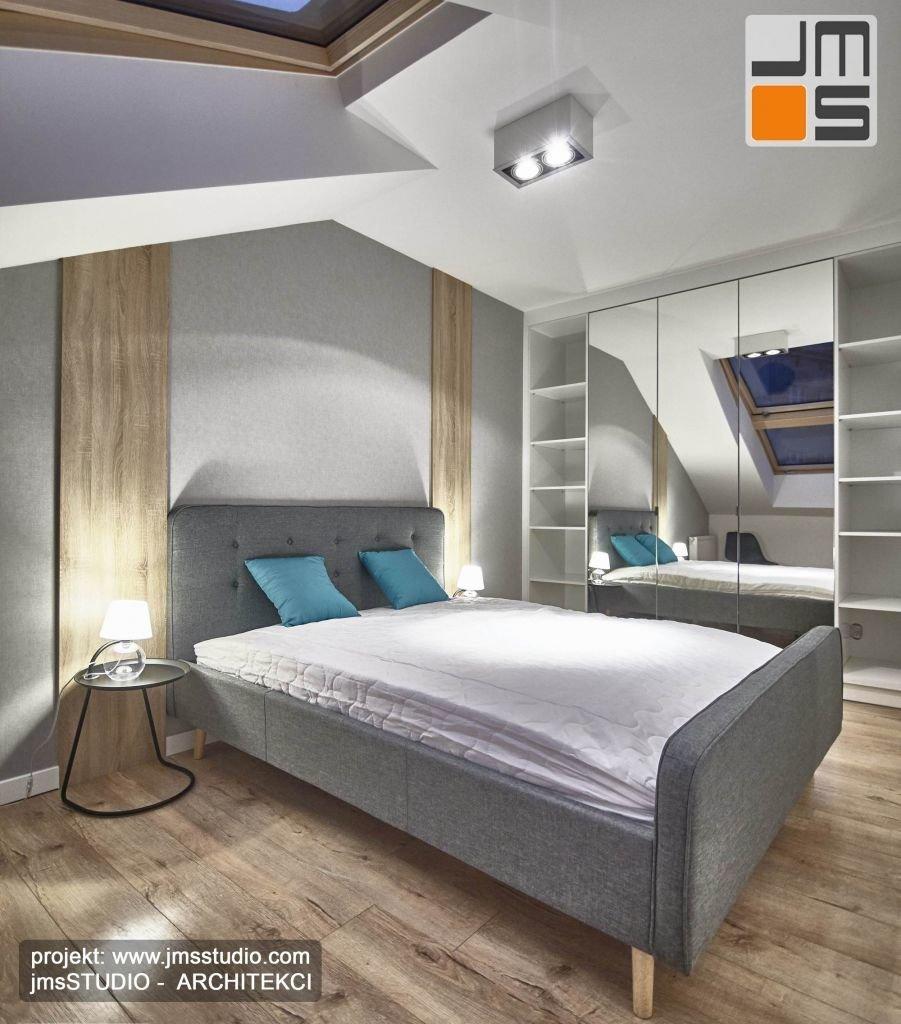 Ciekawe ośwetlenie w sypialni mieszkania pod wynajem w Krakowie