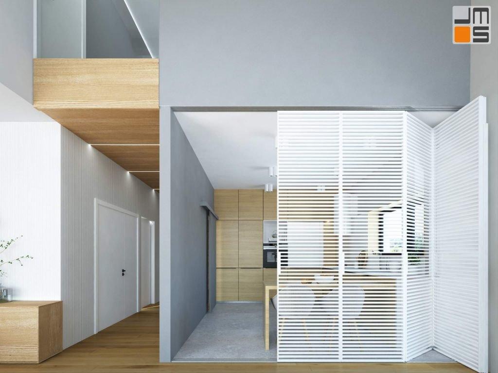 projekt wnętrz nowoczesnych o ciepłym i przytulnym charakterze w domu pod Krakowem.