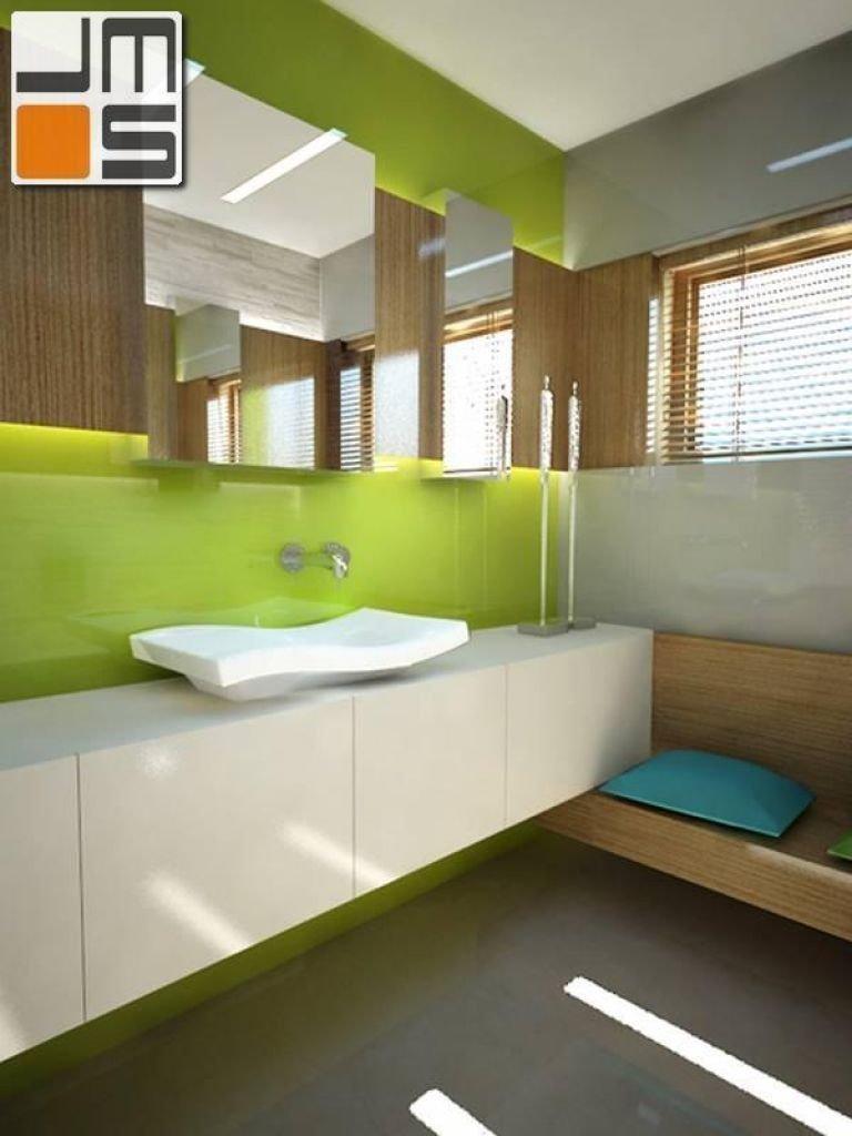 Pomysł na łazienkę w kolorze limonki
