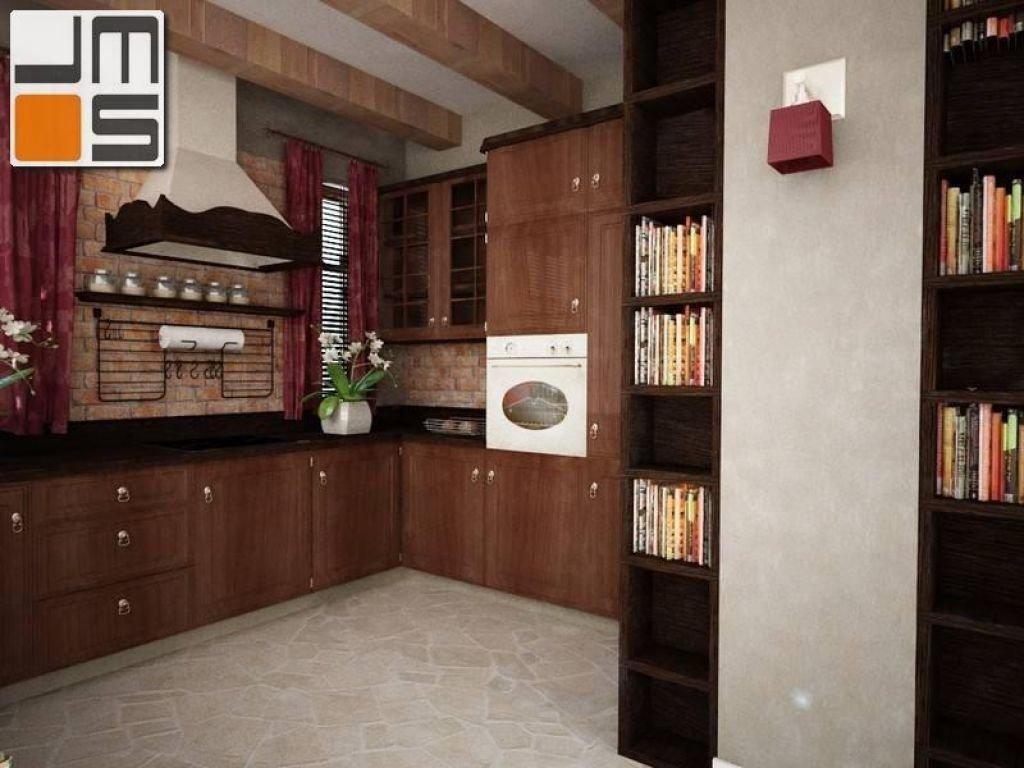 Projekt kuchni w stylu prowansalskim z dekoracyjnym okapem kuchennym