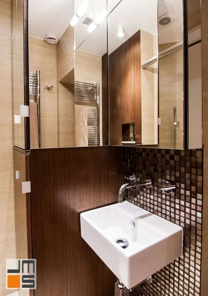 Pomysł na łazienkę wykończoną mozaiką pomysł na niewielką łazienkę