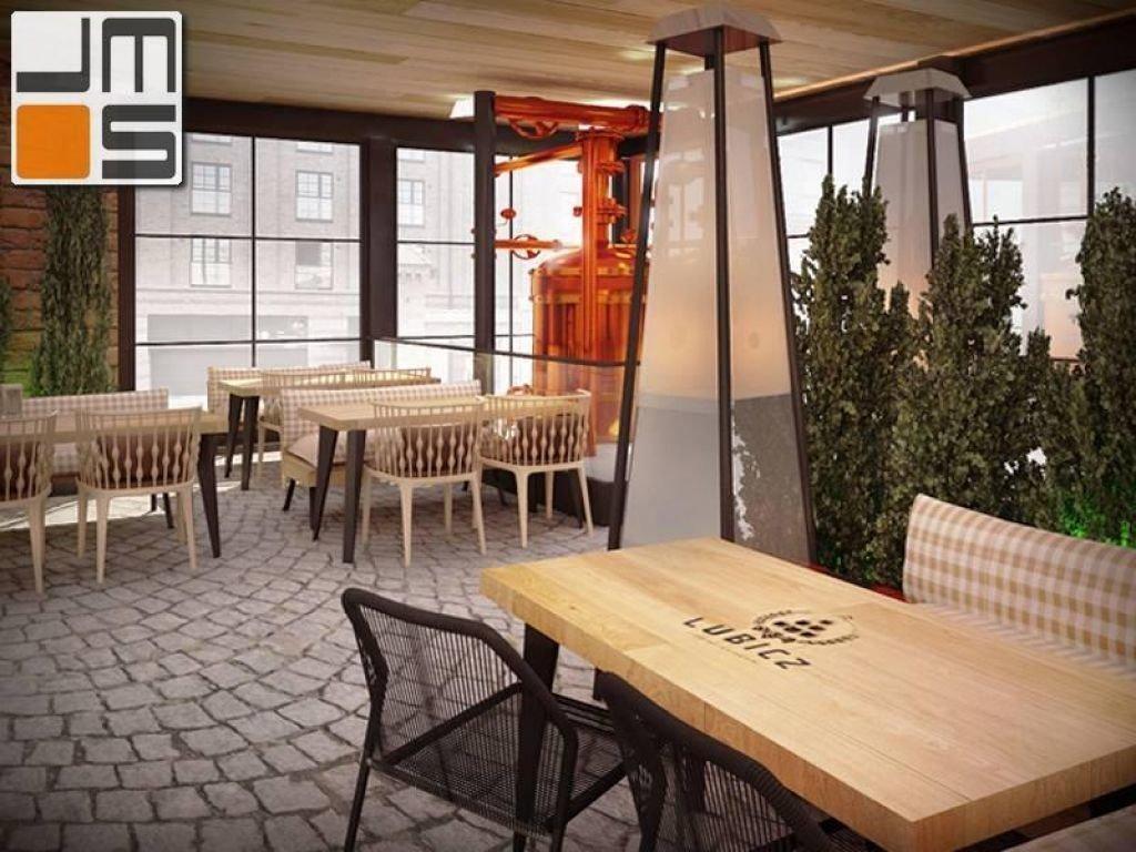 Aranżacja restauracji Browar Lubicz w Krakowie