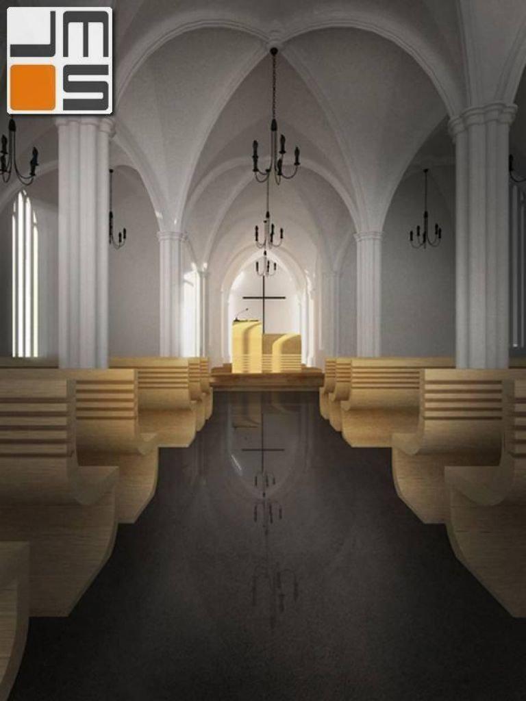 Aranżacja wnętrza kościoła gotyckiego
