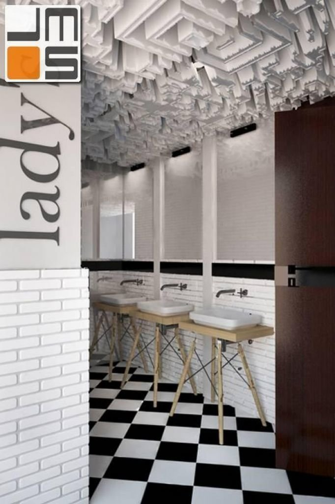 Pomysł na ekstrawagancką łazienkę w lokalu użytkowym