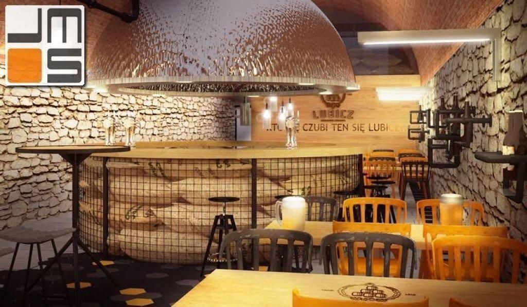 Pomysł na ladę barową w historycznym wnętrzu