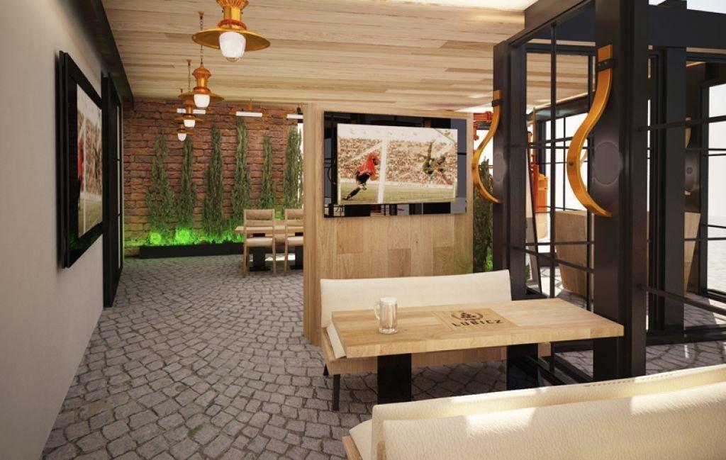Pomysł na ogródek piwny Projekt ogródka przy restauracji