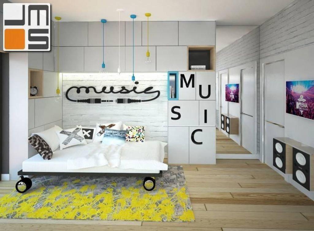 Pomysł na pokój młodzieżowy z motywem muzycznym
