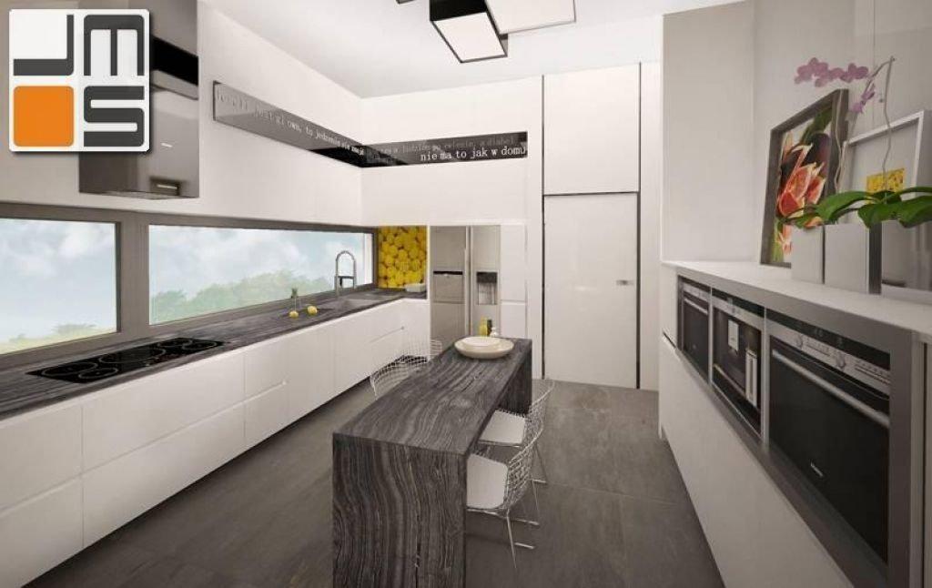 Projekt kuchni z blatem granitowym