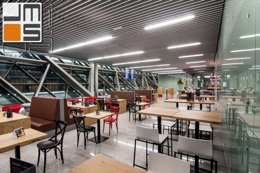 Projekt wnętrza sali konsumpcyjnej Balice Airport