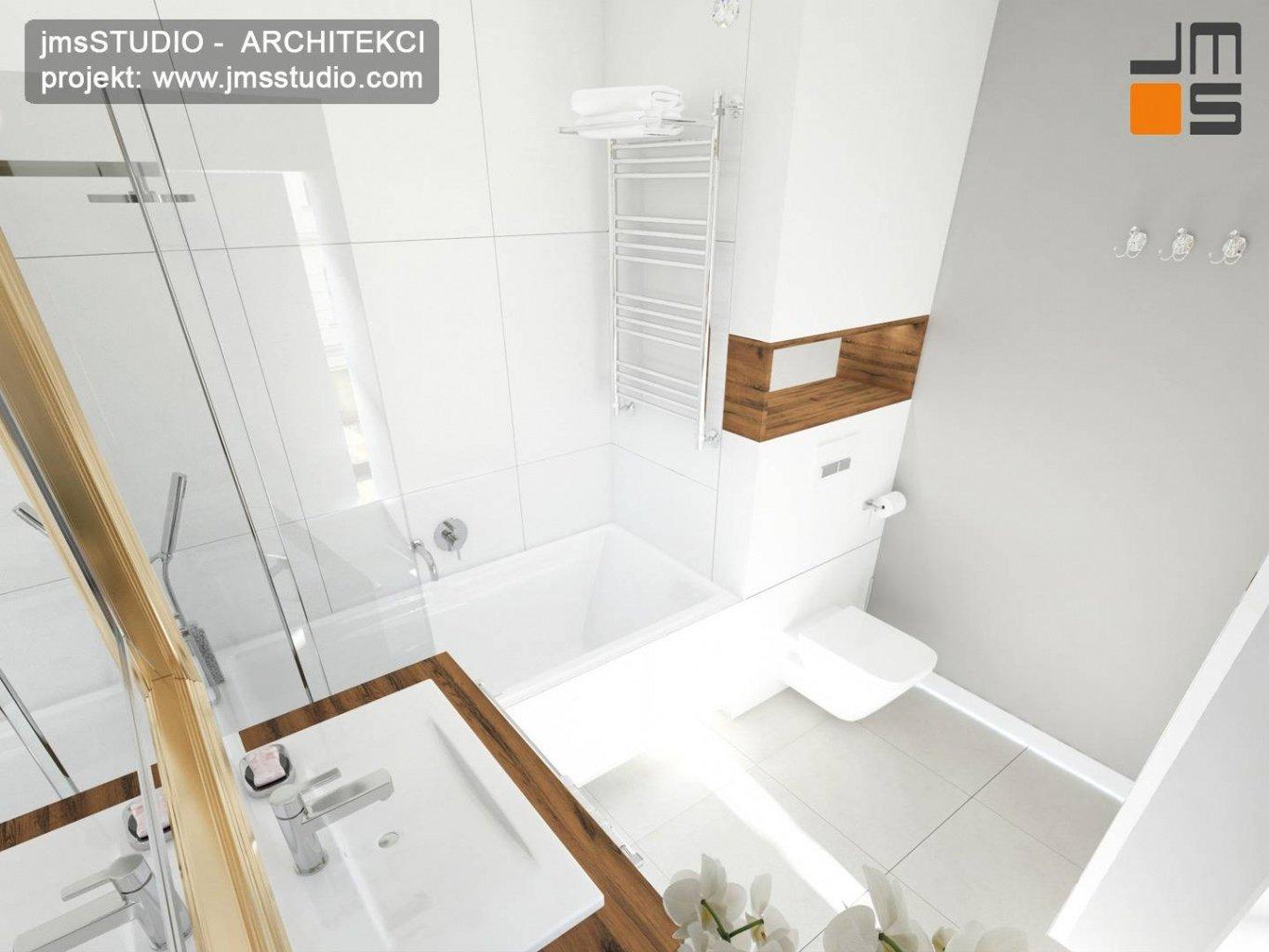 projektowanie wnętrz kraków pomysł na małą luksusową łazienkę