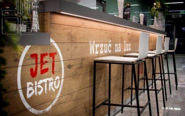 Aranżacja lokalu gastronomicznego na lotnisku Kraków-Balice