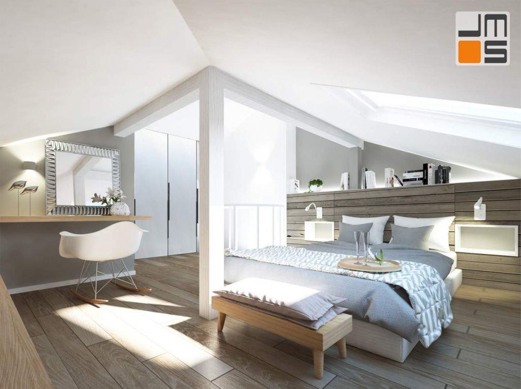 Poddasze to przestrzeń, która często bywa trudna do zaaranżowania .Projekt zakładał Stworzenie przytulnej i funkcjonalnej sypialni