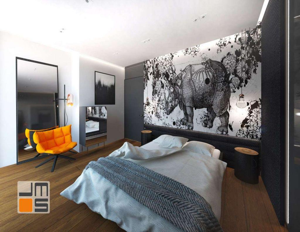 Dekoracyjna tapeta z grafiką jako pomysł na ścianę
