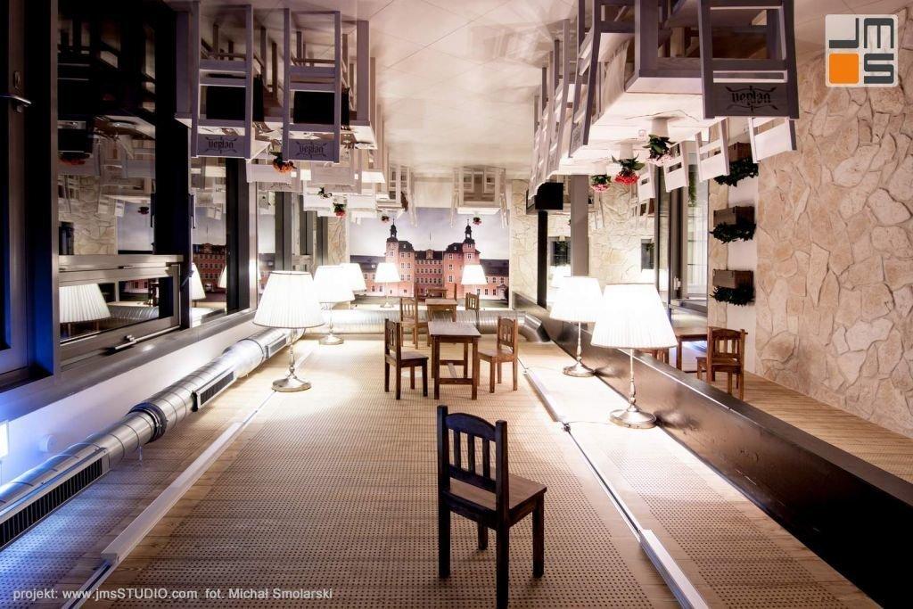 2016 09 jmsstudio 08 projekt wnetrz restauracji krakow ciekawy pomysl na aranzacje sufitu