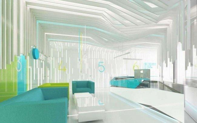 Projekt wnętrz nowoczesnego gabinetu dentystycznego i pracowni RTG w klinice stomatologicznej w Bielsku