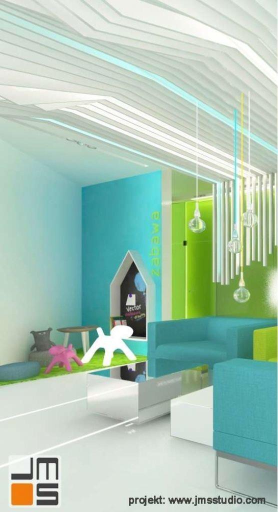 Pomysłowy koncik dla dzieci w recepcji dentystycznej