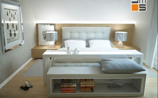 Projekt wnętrz sypialni, pokoju dziecka i pokoju młodzieżowego oraz gabinetu w domu jednorodzinnym - projektowanie wnętrz Kraków
