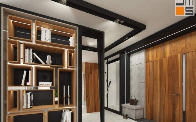 Orzech - Kamień - Drewno - Marmur  czyli indywidualny projekt wnętrz  bardzo ekskluzywnego apartamentu w Krakowie