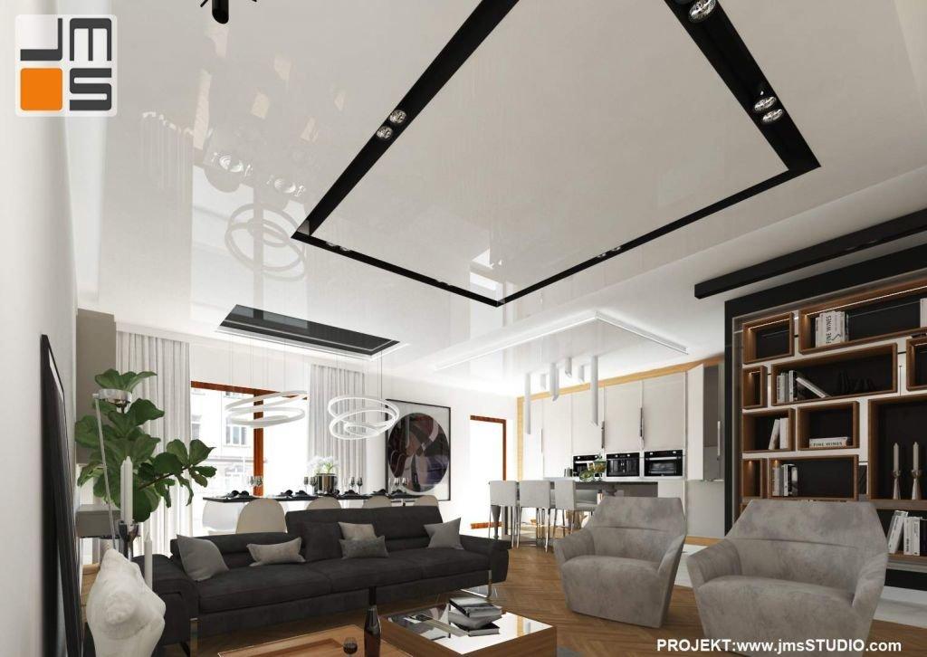 Bardzo ważnym elementem projektu jest sufit podwieszany z Barizolu