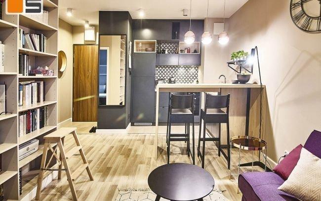 Projekt wnętrz nowoczesnych w stylu SOFT - LOFT to propozycja na ciekawą aranżacje wnętrz eleganckiego mieszkania miejskiego w Krakowie