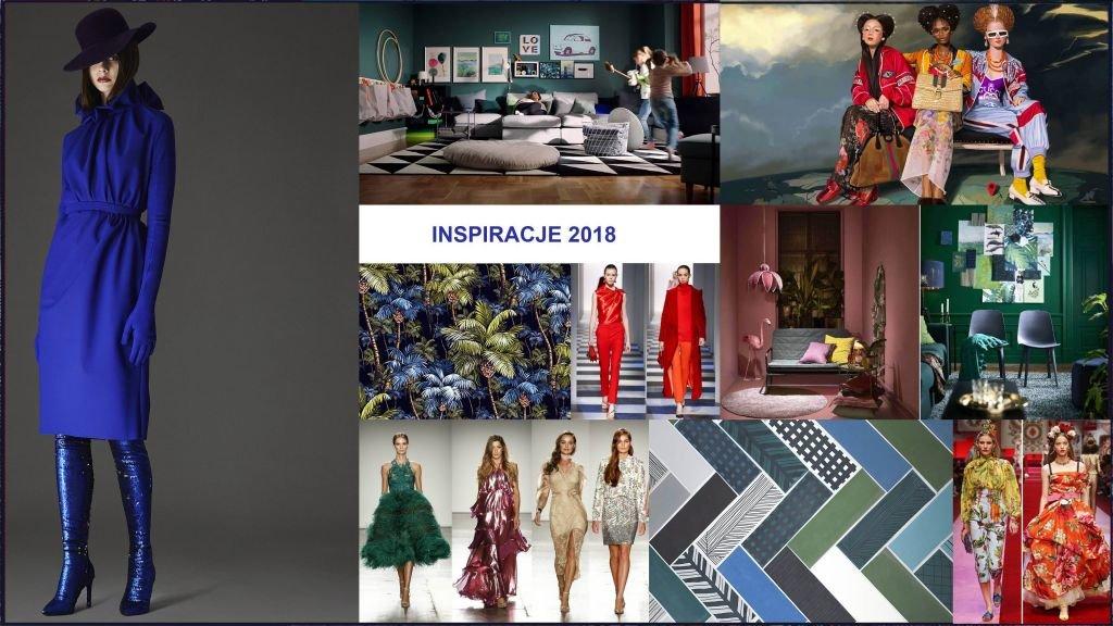 najnowsze propozycje projektantów na wzory i kolory roku 2018