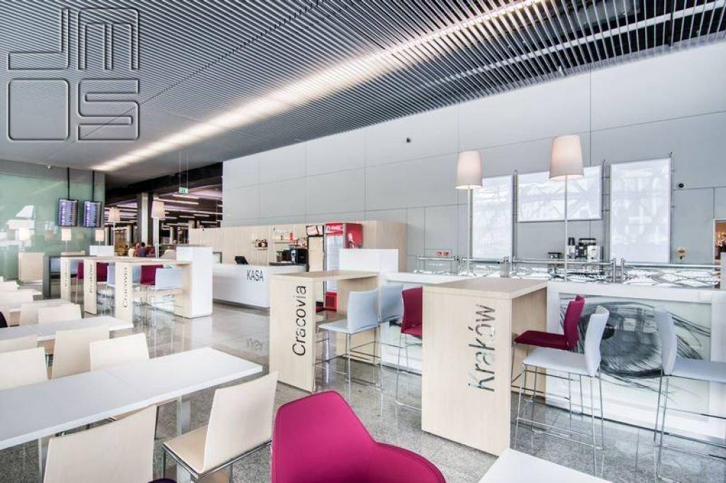 Pomysł na meble w restauracji na lotnisku