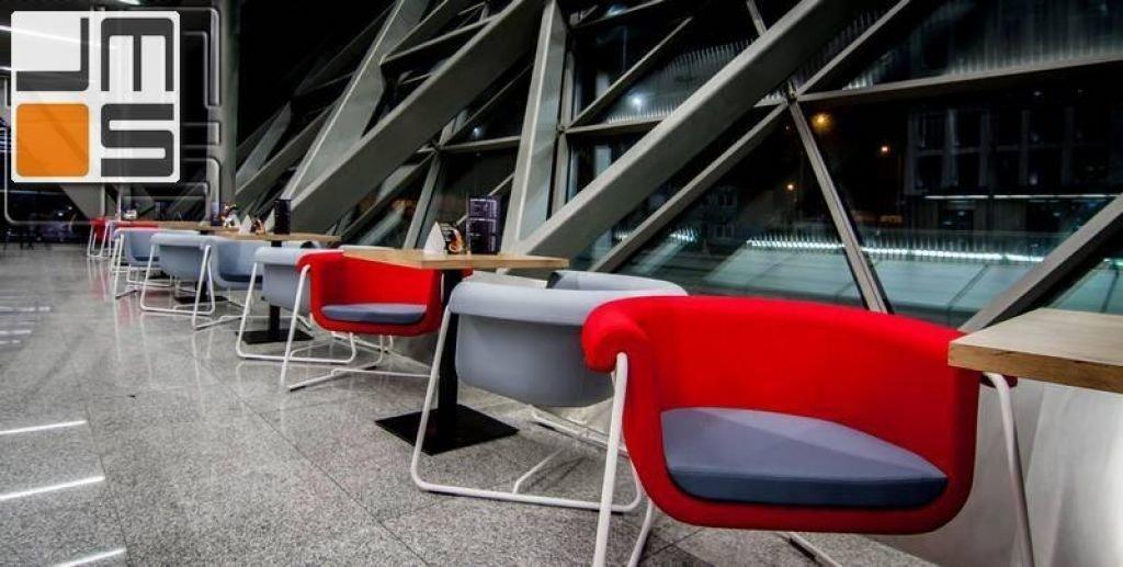 Pomysł na strefę kawiarnianą na lotnisku