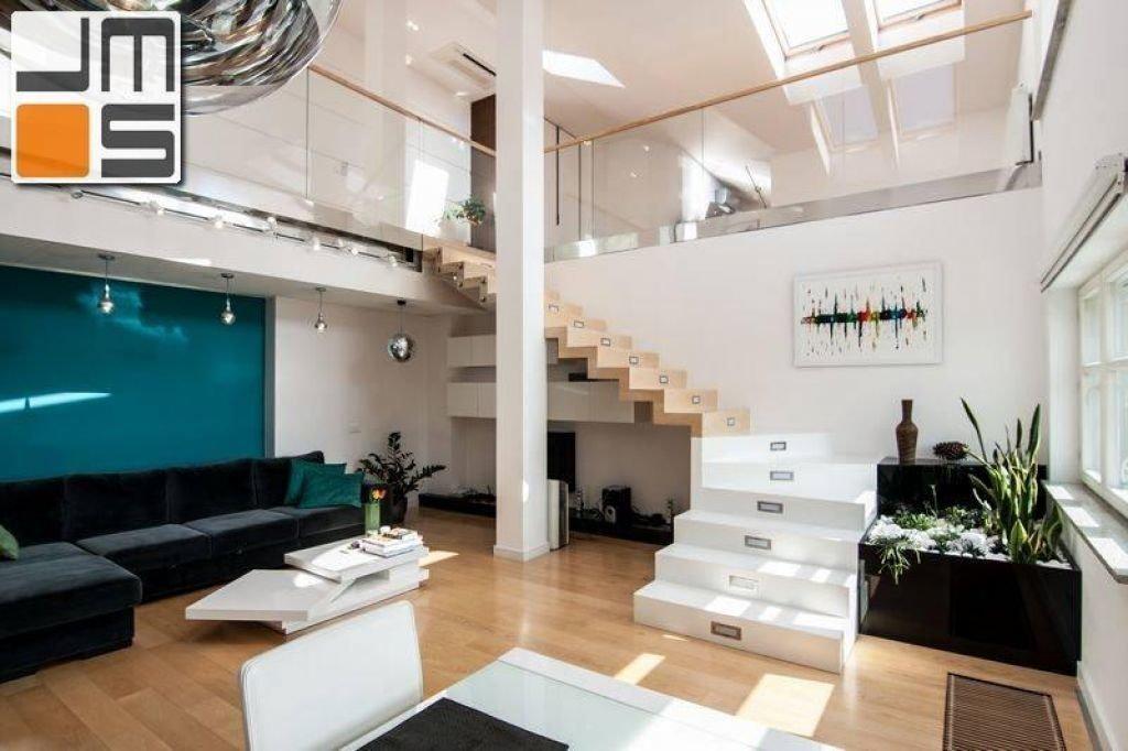 Pomysł na wykonanie antresoli w mieszkaniu dwpoziomowym