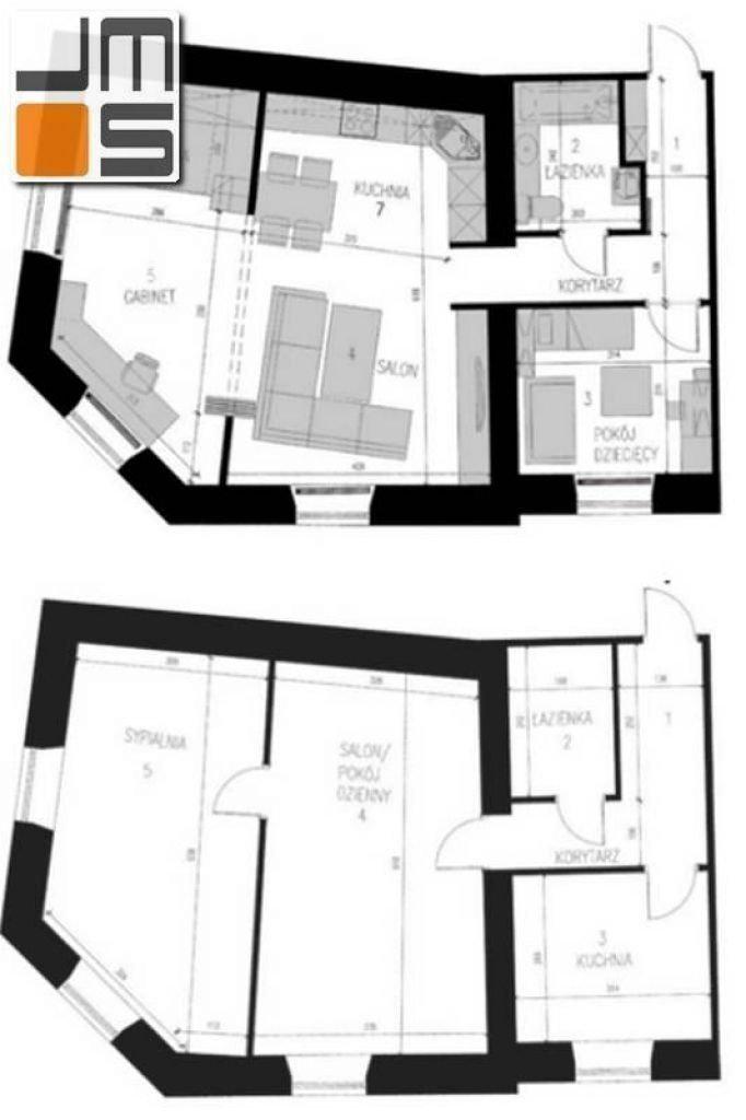 Projekt aranżacj wnętrz zmiana układu funkcjonalnego mieszkania