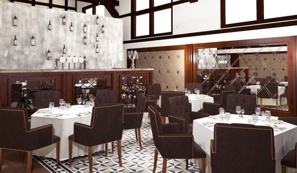 Projekt eleganckiej restauracji w historycznym wnętrzu