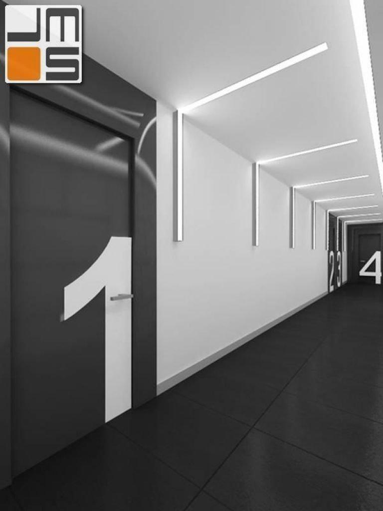 Projekt korytarza w biurowcu
