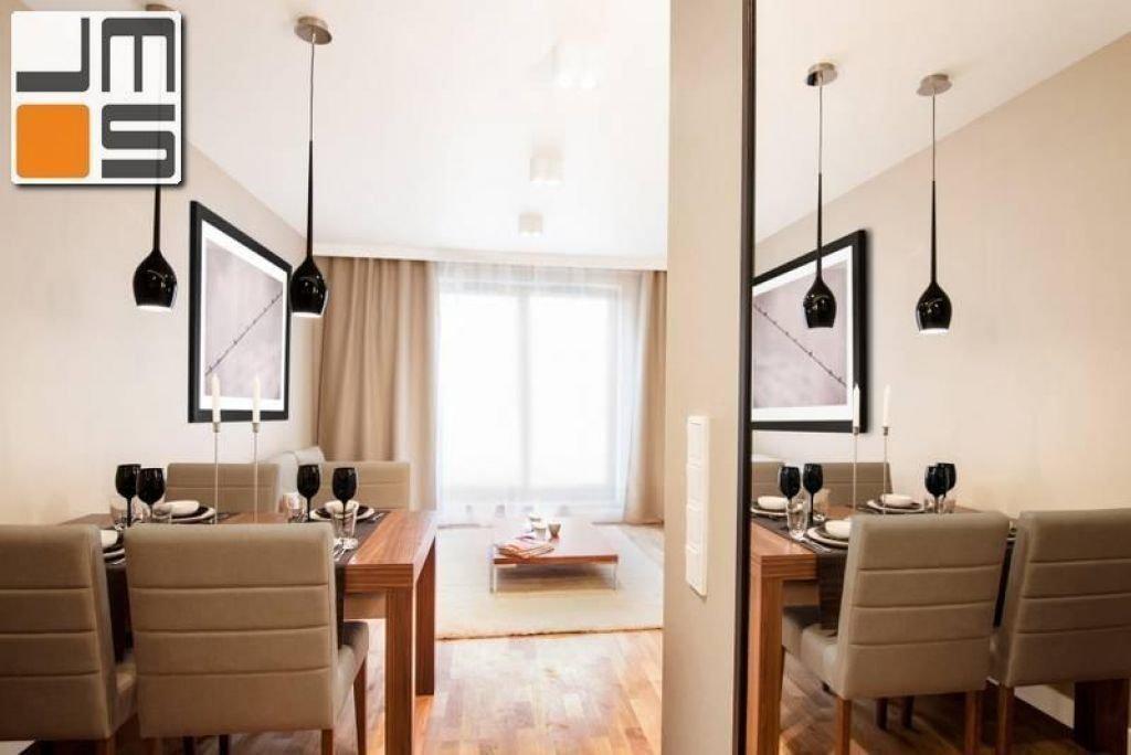 Projekt nowoczesnej jadalni połączonej z salonem