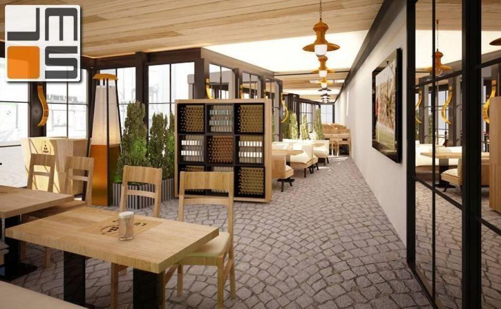 Projekt ogródka całorocznego z funkcją gastronomiczną