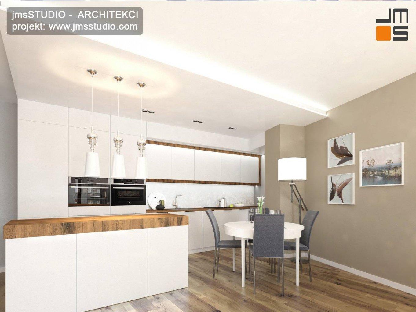 projekt wnetrz kraków kuchnia meble lakier eleganckie wnętrze