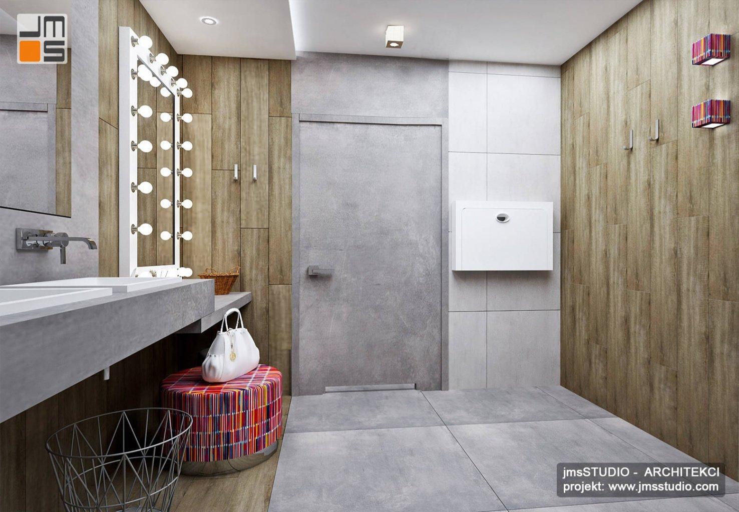 dekoracyjne oświetlenie w projekcie wnętrz toalety w restauracji - projekt oświetlenia i projekt wnętrz restauracji