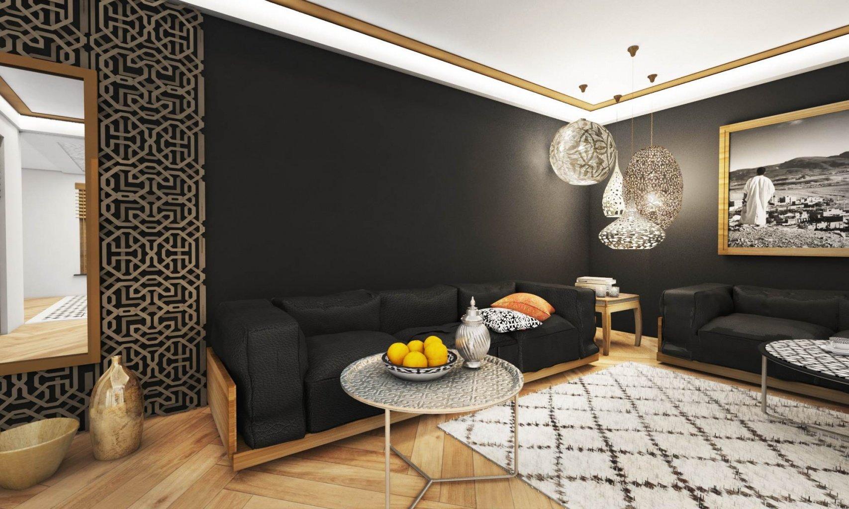 Proejkt wnętrz w stylu Marokńskim Śródziemnomorskim  z elementami Etno - Design