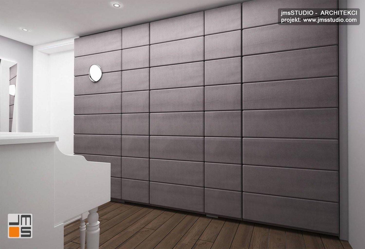 ściana akustyczna w projekt wnętrz pomieszczenie do gry na instrumencie pianino z wygłuszeniem w mieszkaniu Kraków