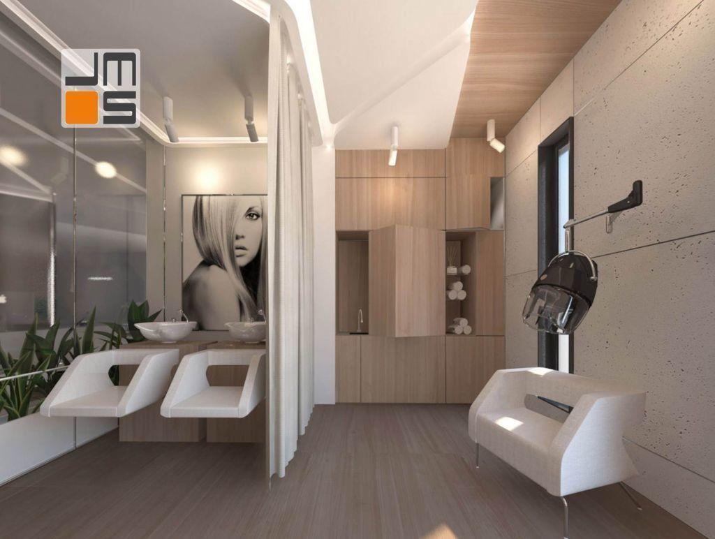 beton we wnetrzu, surowa ściana, nowoczesny beton, mocny element we wnetrzu, surowa struktura, surowy metriał, salon fryzjerski,projekt
