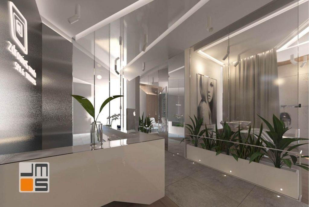 szkło we wnętrzu, wydzielenie pomieszczeń, lekka konstrukcja, nowoczesne ściany, Bielsko, gabinet kosmetyczny