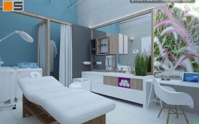 Projekt aranżacji wnętrz gabinetów medycznych na potrzeby medycyny estetycznej w klinice Skopia w Krakowie