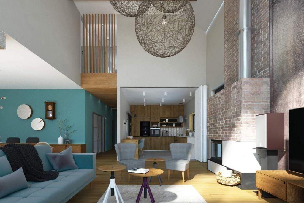Projekt wnętrz przytulnych i ciepłych w nowoczesnym stylu - wnętrza  domu jednorodzinnego pod  Krakowem