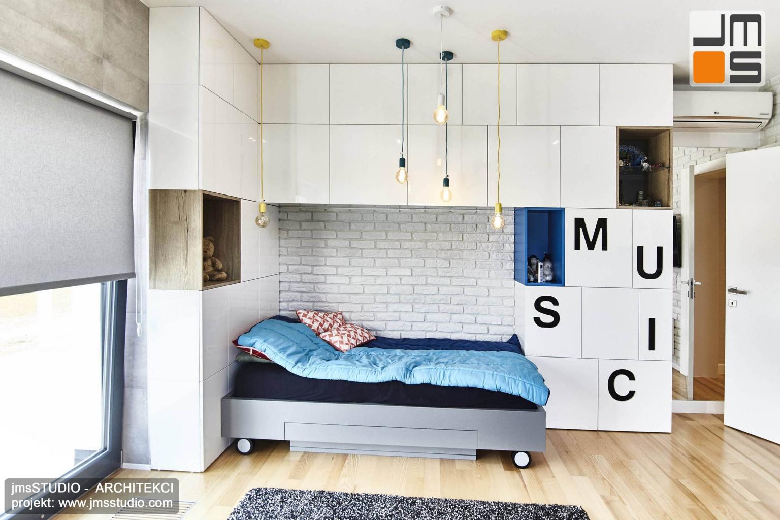 Projekt wnętrz sypialni nowoczesnej z projektem wnętrz prostych i eleganckich pod Poznaniem